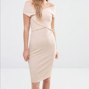 Fashion Union Wrap Front Bodycon Dress